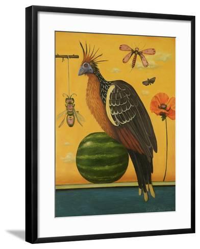 Hoatzin 2-Leah Saulnier-Framed Art Print