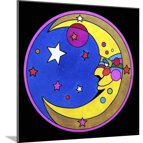Pop Art Moon Circle-Howie Green-Mounted Giclee Print