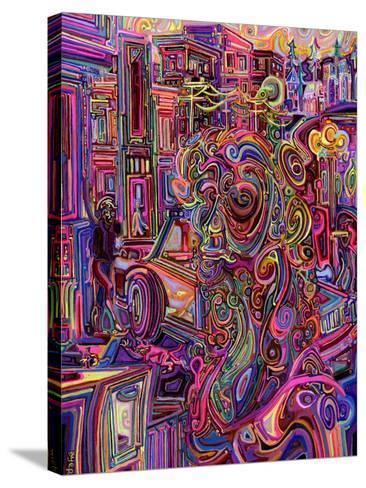 The Giraffe Lady-Josh Byer-Stretched Canvas Print