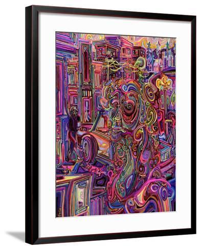 The Giraffe Lady-Josh Byer-Framed Art Print