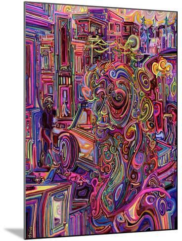 The Giraffe Lady-Josh Byer-Mounted Giclee Print