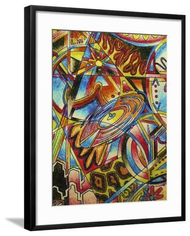 Music-Abstract Graffiti-Framed Art Print