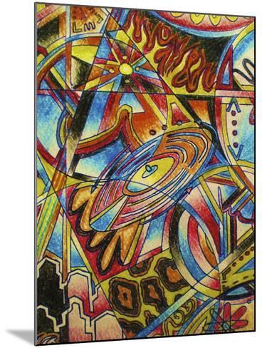 Music-Abstract Graffiti-Mounted Giclee Print