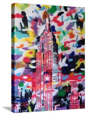 New York Camo-Abstract Graffiti-Stretched Canvas Print