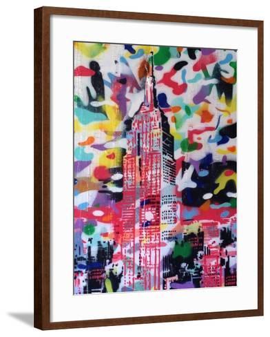 New York Camo-Abstract Graffiti-Framed Art Print