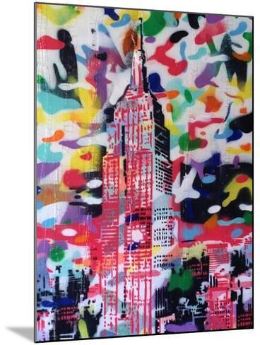 New York Camo-Abstract Graffiti-Mounted Giclee Print