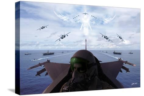 Angels Overhead 1-Jason Bullard-Stretched Canvas Print