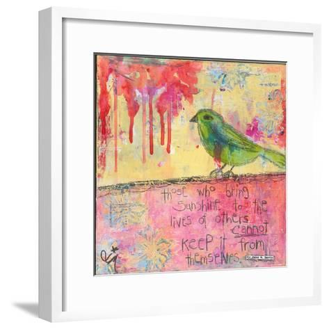 Sunshine Bird-Jennifer McCully-Framed Art Print