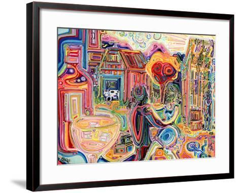 The Cow Sees Everything-Josh Byer-Framed Art Print