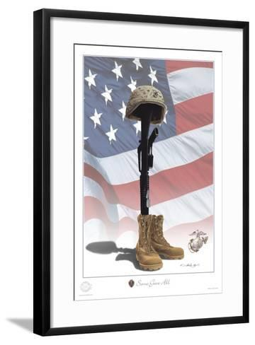 USMC Some Gave All-Marc Wolfe-Framed Art Print