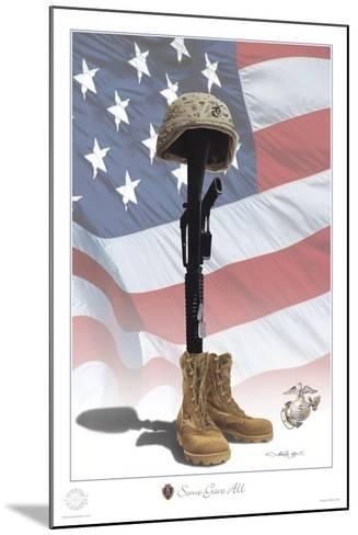 USMC Some Gave All-Marc Wolfe-Mounted Giclee Print