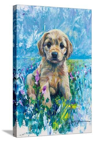 Cocker Spaniel Puppy Love-Lucy P. McTier-Stretched Canvas Print
