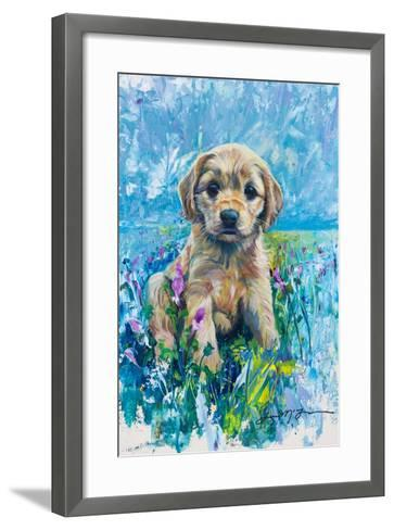 Cocker Spaniel Puppy Love-Lucy P. McTier-Framed Art Print