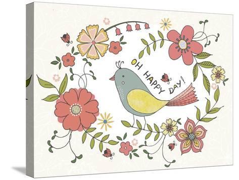 Oh Happy Day-Jyotsna Warikoo-Stretched Canvas Print