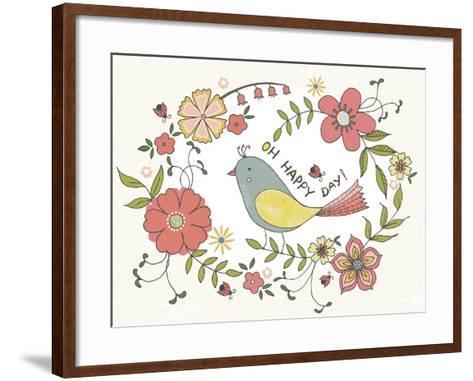 Oh Happy Day-Jyotsna Warikoo-Framed Art Print