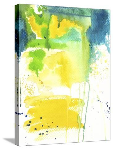 The Quiet Fight - Watercolor Abstract-Jennifer McCully-Stretched Canvas Print