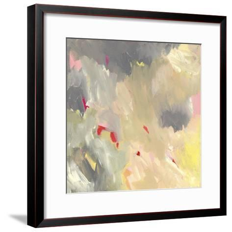 The Storm - Abstract-Jennifer McCully-Framed Art Print
