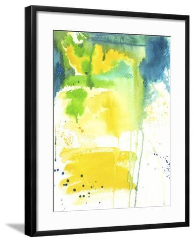 The Quiet Fight - Watercolor Abstract-Jennifer McCully-Framed Art Print