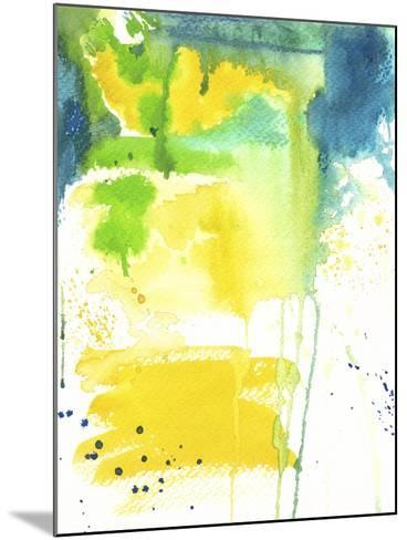 The Quiet Fight - Watercolor Abstract-Jennifer McCully-Mounted Giclee Print