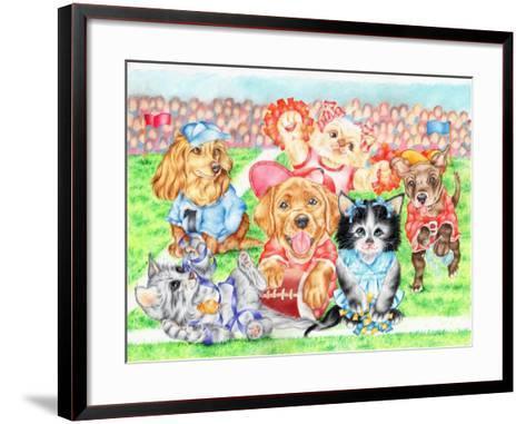 Fluffie Football-Karen Middleton-Framed Art Print