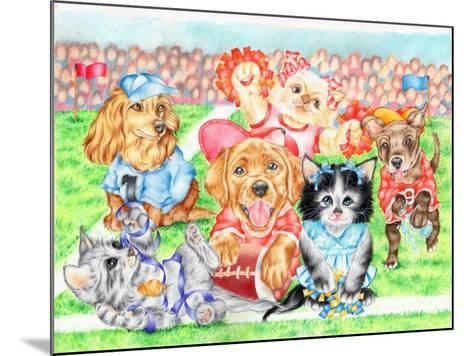 Fluffie Football-Karen Middleton-Mounted Giclee Print