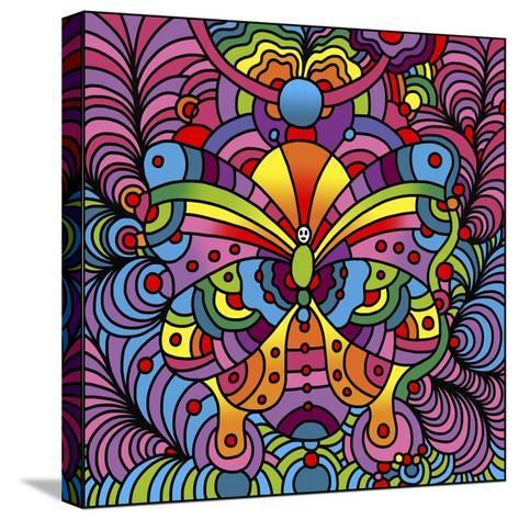 Pop Art Butterfly-Howie Green-Stretched Canvas Print