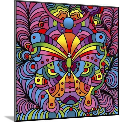 Pop Art Butterfly-Howie Green-Mounted Giclee Print