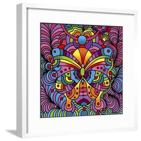 Pop Art Butterfly-Howie Green-Framed Art Print