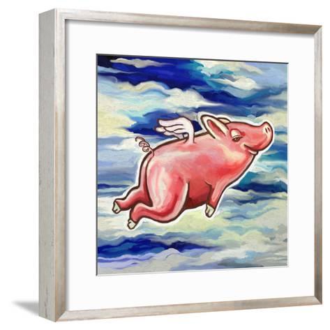 Flying Pig-Howie Green-Framed Art Print