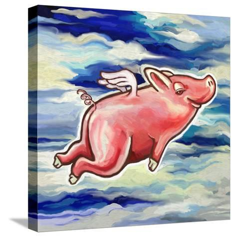 Flying Pig-Howie Green-Stretched Canvas Print