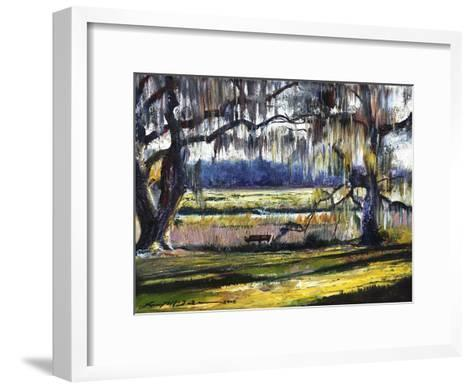 Lowcountry Spanish Moss Escape-Lucy P. McTier-Framed Art Print