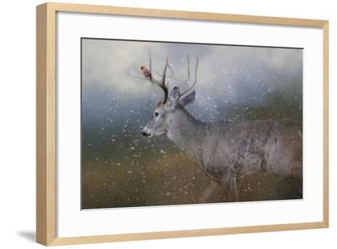 HitchHiker in the Snow Storm-Jai Johnson-Framed Art Print