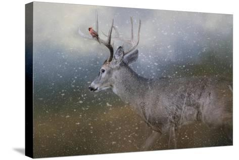 HitchHiker in the Snow Storm-Jai Johnson-Stretched Canvas Print