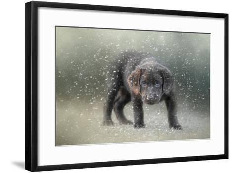 Her First Snow-Jai Johnson-Framed Art Print