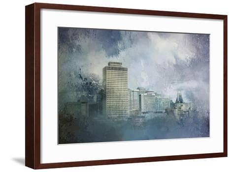 Nashville Tennessee Skyline-Jai Johnson-Framed Art Print