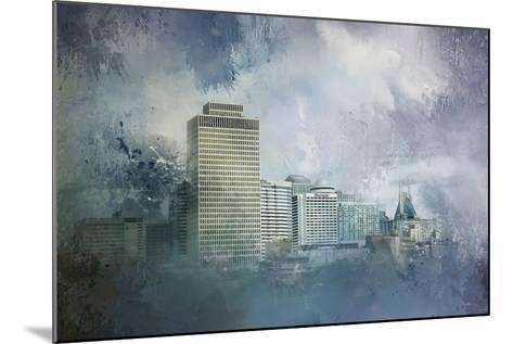 Nashville Tennessee Skyline-Jai Johnson-Mounted Giclee Print