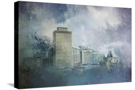 Nashville Tennessee Skyline-Jai Johnson-Stretched Canvas Print