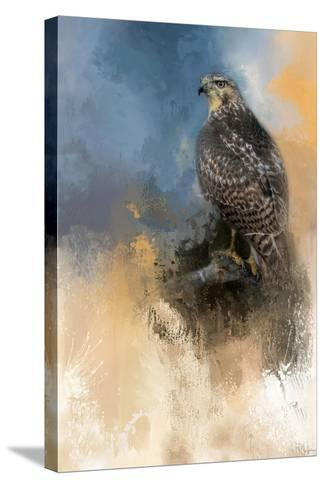 Redtail in Winter-Jai Johnson-Stretched Canvas Print