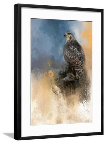 Redtail in Winter-Jai Johnson-Framed Art Print