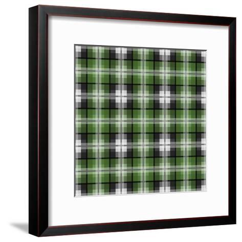 Green Gray Check 2-Jennifer Nilsson-Framed Art Print