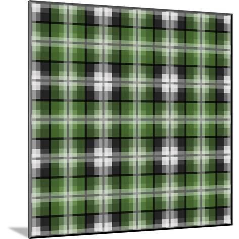 Green Gray Check 2-Jennifer Nilsson-Mounted Giclee Print