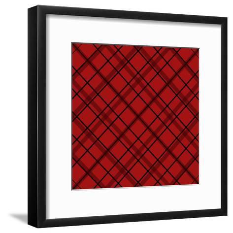 Red Diamond Plaid 2-Jennifer Nilsson-Framed Art Print