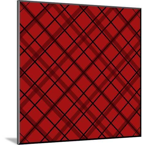 Red Diamond Plaid 2-Jennifer Nilsson-Mounted Giclee Print
