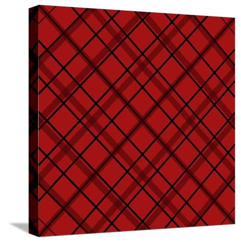 Red Diamond Plaid 2-Jennifer Nilsson-Stretched Canvas Print