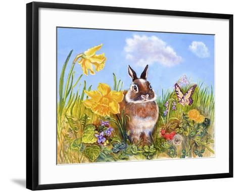 Bunny in Meadow-Judy Mastrangelo-Framed Art Print