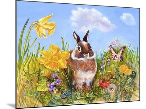 Bunny in Meadow-Judy Mastrangelo-Mounted Giclee Print