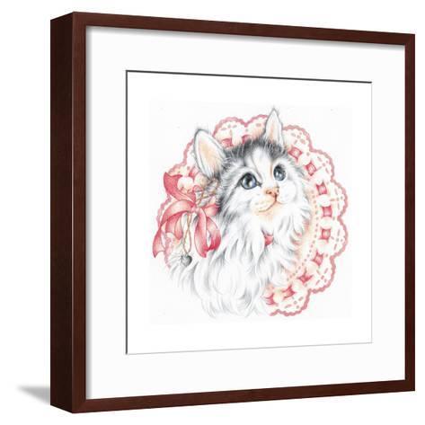 Lacey Kitten-Karen Middleton-Framed Art Print