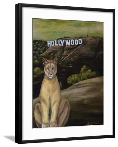 Ghost Cat-Leah Saulnier-Framed Art Print