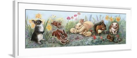 Little Animals Border-Judy Mastrangelo-Framed Art Print