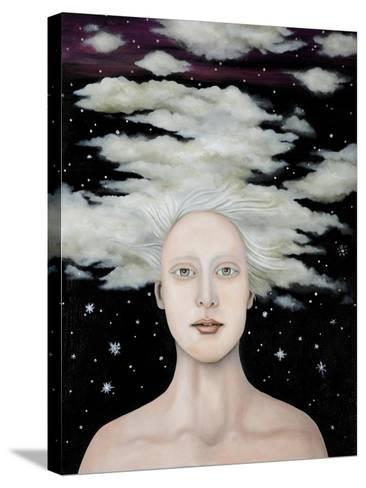 Albino Snow-Leah Saulnier-Stretched Canvas Print